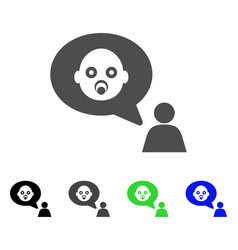 baby thinking person icon vector image