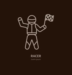 car racer line icon speed auto vector image