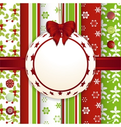 Christmas scrap book bauble background vector image vector image