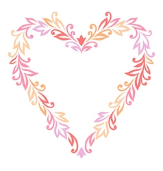 floral ornament heart vector image vector image
