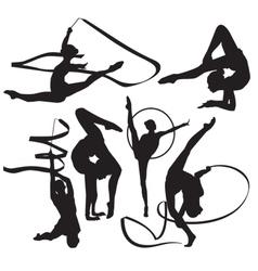 gymnasts vector image vector image