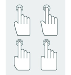 hand with pointing finger vector image