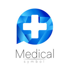 medical sign with cross symbol for doctors vector image