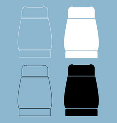 pepper the black and white color icon vector image