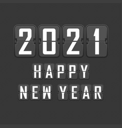 2021 happy new year flip vector image