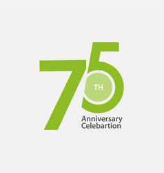 75 th anniversary celebration template design vector