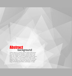 Abstract light grey background with place for text vector