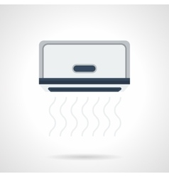 Air conditioner install flat color icon vector