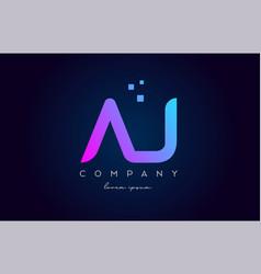 Aj a j alphabet letter logo icon combination vector