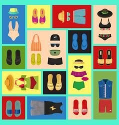 beach fashion seamless pattern vector image