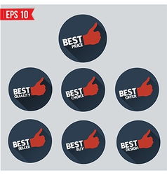 Best badge tag long shadow design - - EPS10 vector