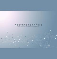 big data visualization geometric abstract vector image