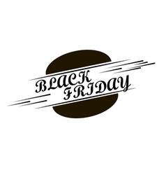 black friday inscription design template on vector image