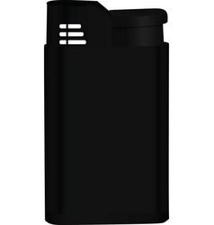 black lighter vector image vector image
