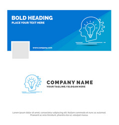 blue business logo template for creative vector image