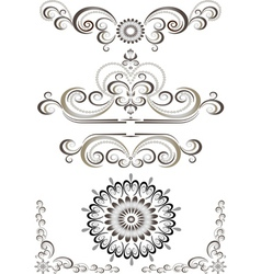 Brown bright decorative ornament vector image vector image