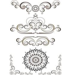 Brown bright decorative ornament vector image