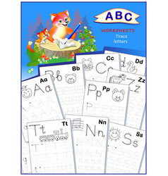 Cover for kids school workbook with exercise vector