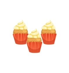 Cupcakes Bakery Assortment Icon vector