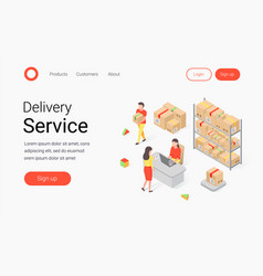 Delivery service company concept vector