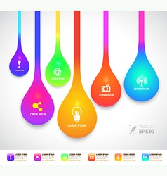 drop color with icons vector image vector image