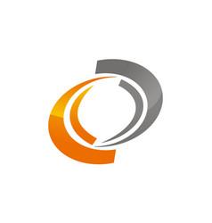 Dynamic rotation logo design template vector