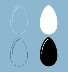 egg the black and white color icon vector image