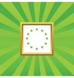 European Union picture icon vector image