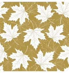 Fall leaf seamless pattern Autumn foliage vector