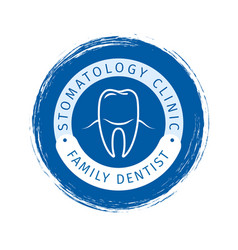 family dentist logo design vector image