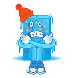 Frozen smartphone vector