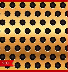 Golden backgroud with circular holes vector