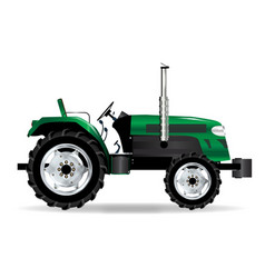 green isolated tractor vector image