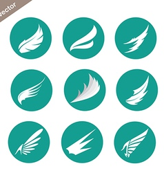 group of wings in the circle vector image