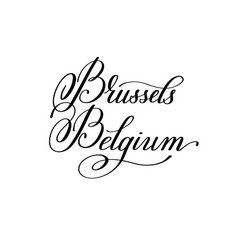 hand lettering the name of the european capital vector image