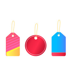 hanging empty stickers with place for text vector image