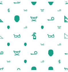 Hipster icons pattern seamless white background vector