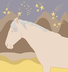 Horseandstars vector