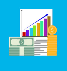income increase chart arrow vector image