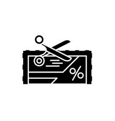 Loyalty program black icon sign on vector