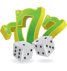 lucky seven dice vector image