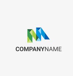 m logo template vector image