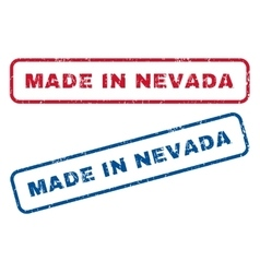 Made In Nevada Rubber Stamps vector