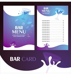 Menu bar card vector