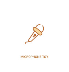 Microphone toy concept 2 colored icon simple line vector