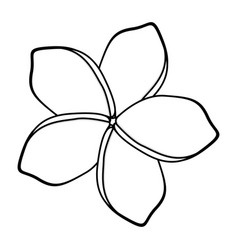 Monochrome silhouette with malva flower vector