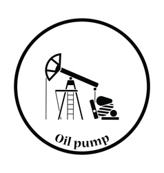 Oil pump icon vector image