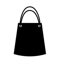 Paper gift bag icon vector