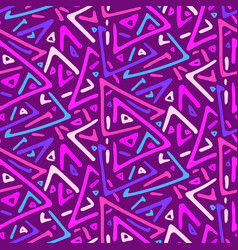 pink and purple sketch triangles seamless pattern vector image