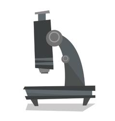 Professional laboratory microscope vector image